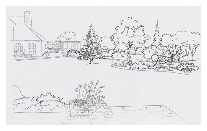 Проект сада Репинская усадьба