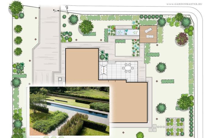 Садовый участок. Проект ландшафтного дизайна