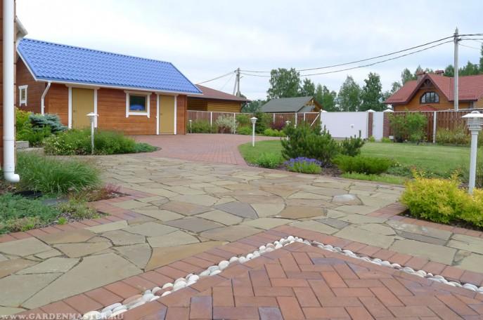 Мощение камнем и тротуарной плиткой