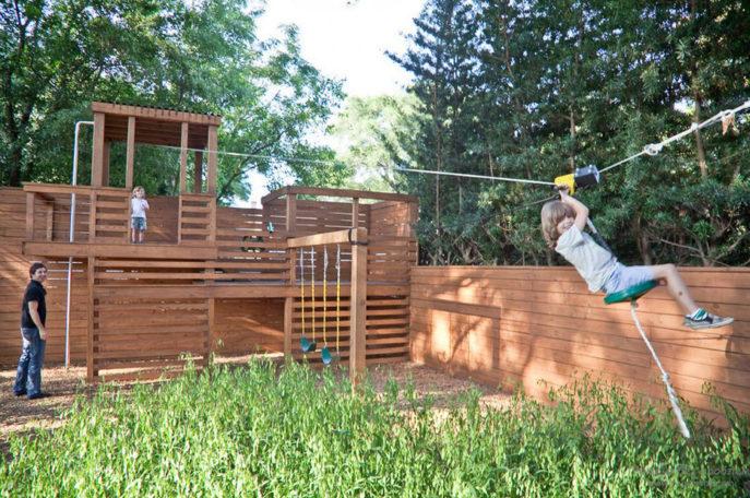 Спортивная площадка для детей на загородном участке