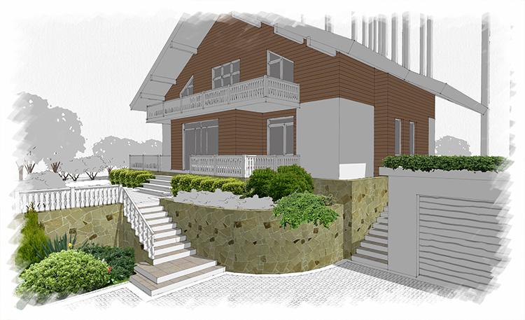 Проект сада Альпино