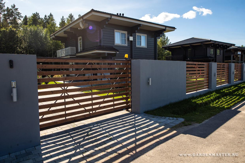 Забор в стиле модерн
