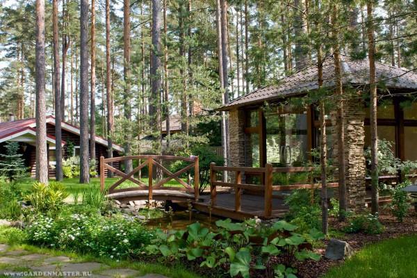 Ландшафтный проект участка Сосново